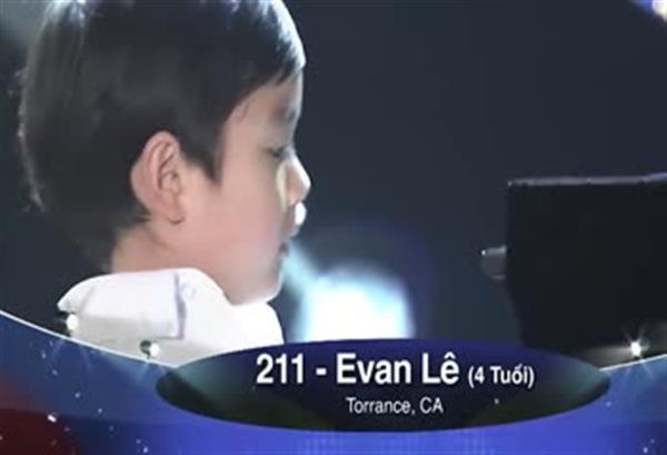 4岁神童Evan le演奏